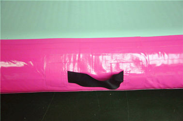 Pink Small Blow Up Gymnastics Mat , Inflatable Tumble Track For Home