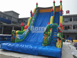 11X6X9m Commercial Inflatable Slide, PVC ผ้าใบกันน้ำ Blow Up Jumping Castle ผู้ผลิต