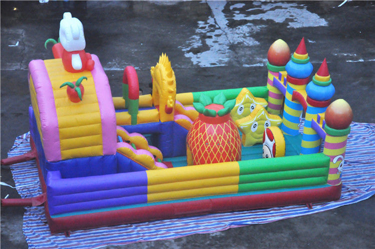 Giant Inflatable Toddler Playground Cheer สนุกกับสัตว์รูปแบบ CE-certificated