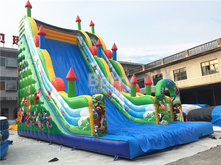 11X6X9m Commercial Inflatable Slide, PVC ผ้าใบกันน้ำ Blow Up Jumping Castle