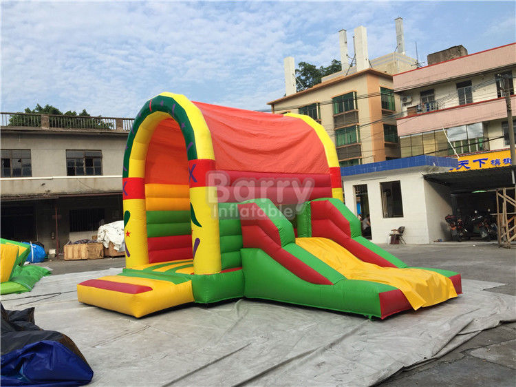 Clearance Inflatable Bouncer , Beautiful Jump House With Small Slide