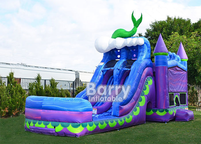 ประเทศจีน Mermaid Dual Lane Titan Plus (6 IN 1) Combo / Inflatable Bouncer Slide Combo โรงงาน